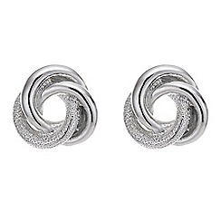 Mood - Silver twisted knot earring