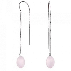 Mood - Rose quartz long chain drop earring