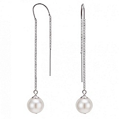 Mood - Pearl long chain drop earring