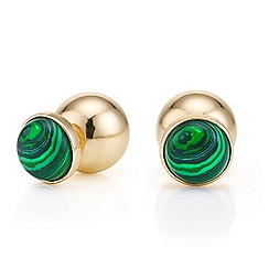 Mood - Green stone drop front and back earring