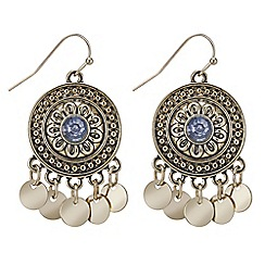 Mood - Tribal coin drop earring