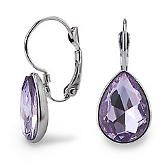 Mood - Purple teardrop earring