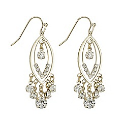 Mood - Gold crystal droplet chandelier earring