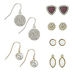 Mood - Pack of six pave earring set