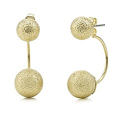 Mood - Gold textured front and back earring