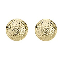 Mood - Gold hammered stud earring