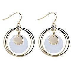 Mood - Shell disc forward facing hoop earring