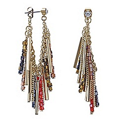 Mood - Beaded fringe lobe earring