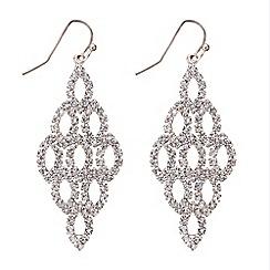 Mood - Rose gold diamante crystal chandelier earring