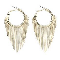 Mood - Gold fringed hoop earring
