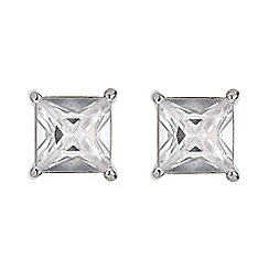 Mood - Square cubic zirconia stud earring