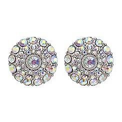 Mood - Aurora borealis crystal round stud earring