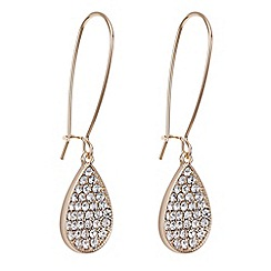 Mood - Rose gold pave teardrop hook earring
