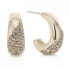Mood - Gold pave half hoop earring