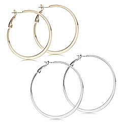 Mood - Multi tone hoop earring pack