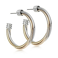 Mood - Multi tone twisted hoop earring