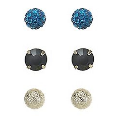 Mood - Teal crystal stud earring set