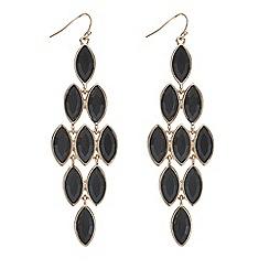Mood - Jet crystal chandelier earring