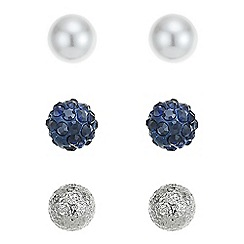 Mood - Blue crystal stud earring set