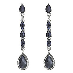 Mood - Blue crystal teardrop drop earring