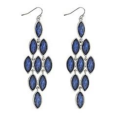 Mood - Blue crystal chandelier earring