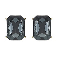 Mood - Jet crystal rectangle stud earring