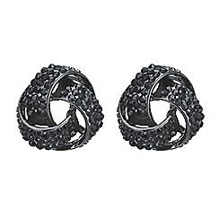 Mood - Jet crystal knot stud earring