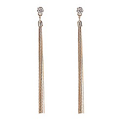 Mood - Rose gold pave ball tassel drop earring