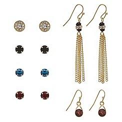 Mood - Crystal tassel mixed earring pack