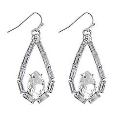 Mood - Silver crystal open teardrop earring
