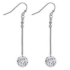 Mood - Silver cubic zirconia drop earring