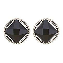 Mood - Jet crystal ring stud earring