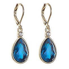 Mood - Blue teardrop crystal drop earring