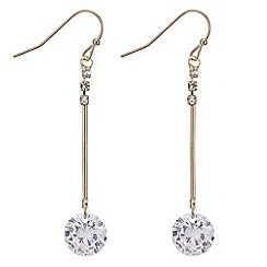 Mood - Gold cubic zirconia drop earring