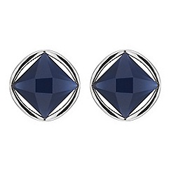 Mood - Blue crystal ring stud earring
