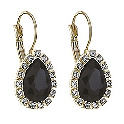 Mood - Jet crystal teardrop drop earring