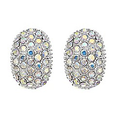 Mood - Aurora borealis crystal half hoop earring