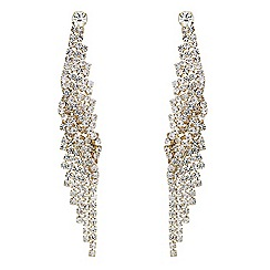Mood - Gold crystal twist diamante drop earring
