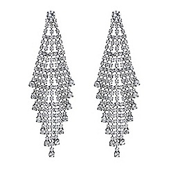 Mood - Silver crystal shower chandelier earring