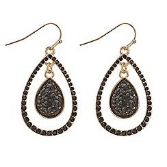 Mood - Jet crystal double drop earring