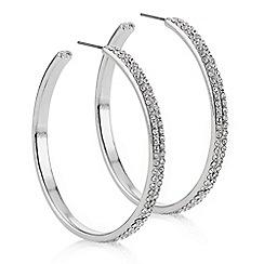 Mood - Silver crystal pave hoop earring