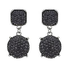 Mood - Navy crystal mixed shape drop earring