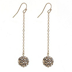 Mood - Rose gold crystal ball drop earring