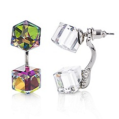 Mood - Multi colour square front and back earring