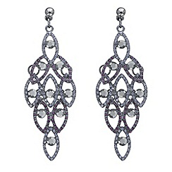 Mood - Purple crystal layered chandelier earring