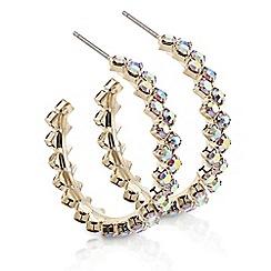 Mood - Gold aurora borealis hoop earring