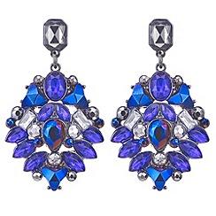 Mood - Tonal purple crystal prism drop earring