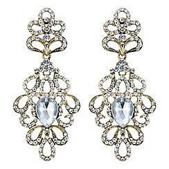Mood - Gold crystal ornate chandelier earring