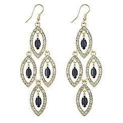 Mood - Jet crystal droplet chandelier earring