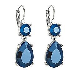 Mood - Metallic blue teardrop earring